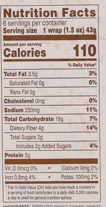 Wraps Sweet Potato 9 Ounce 255 Gram