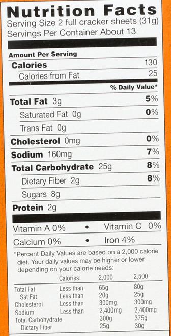 Crackers Honey Graham 14.4 Ounce 408 Gram