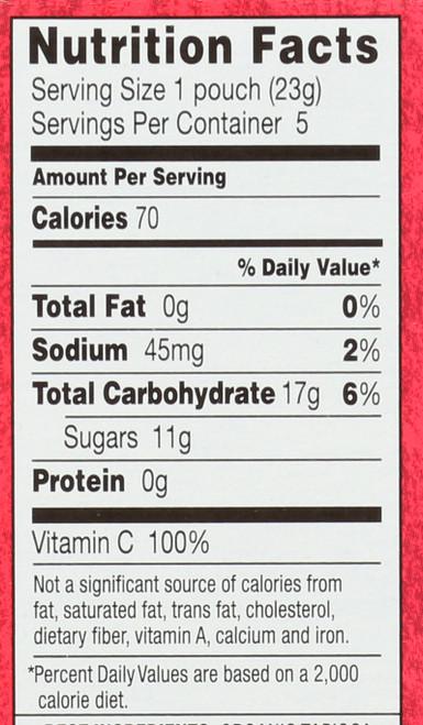 Bunny Fruit Snacks Pink Lemonade 5 Count 4 Ounce