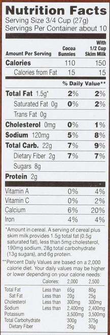 Cereal Cocoa Bunnies 10 Ounce 283.5 Gram