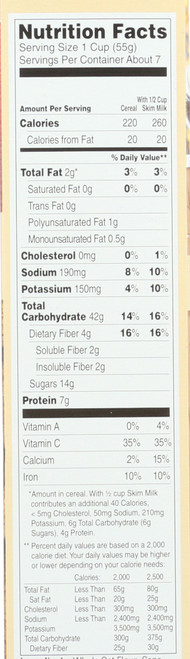Morning Oat Crunch™ Cereal Vanilla Almond 14 Ounce 397 Gram
