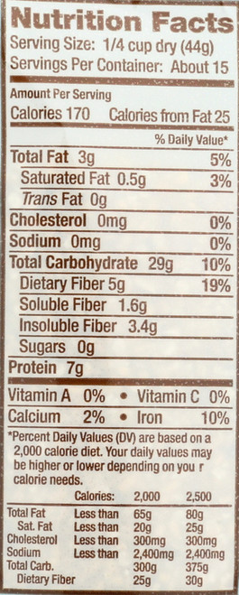 Cereals Brm Og Steel Cut Oats 24 Ounce 680 Gram