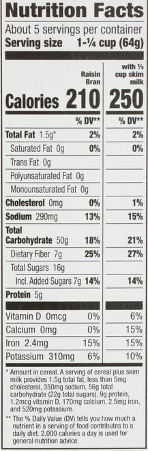 Raisin Bran Organic Wheat Bran Flakes With Plump Organic Raisins 12 Ounce 340 Gram