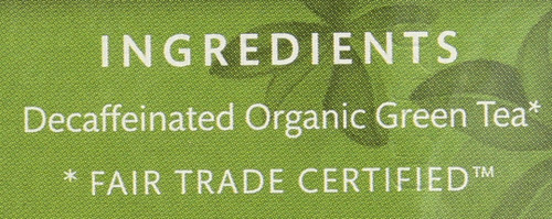 Organic Decaf Green Tea Decaffeinated Green - Original 16 Each 1.1 Ounce