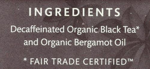 Organic Decaf Black Tea Decaffeinated Earl Grey - Original 16 Each 1.1 Ounce