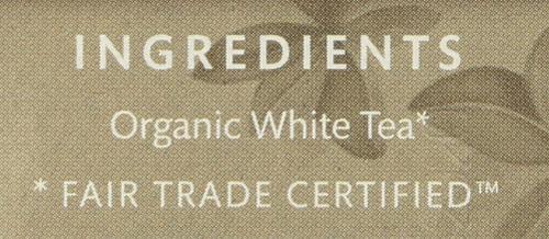Organic White Tea White Peony - Original 16 Each 0.8 Ounce