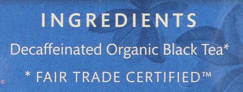 Organic Decaf Black Tea Decaffeinated English Breakfast - Original 16 Each 1.1 Ounce