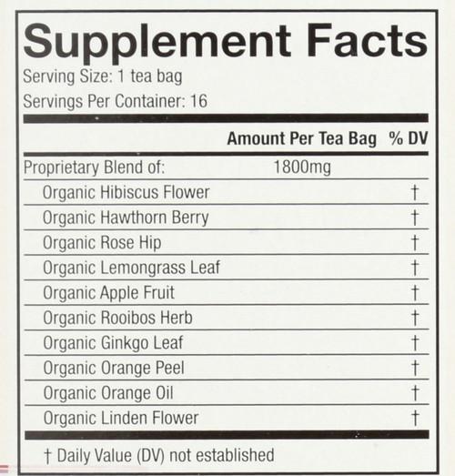 Organic Wellness Tea Hibiscus Heart*  16 Count 1 Ounce