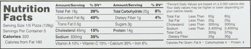 Pepperoni Thin Crust  22.19 Ounce 629 Gram