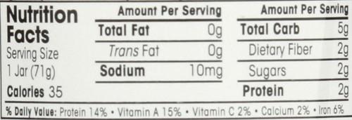 Baby Food Jar 1 First Peas 2.5 Ounce 71 Gram