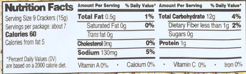 Brown Rice Snaps® Tamari Sesame 3.5 Ounce 100 Gram