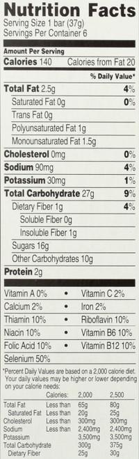 Multi Grain Snack Bars Blueberry 6 Each 7.8 Ounce