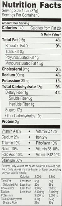 Multi Grain Snack Bars Strawberry 6 Each 7.8 Ounce