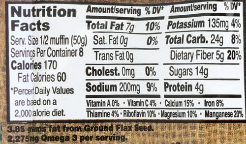 Flax Muffins Apple Cinnamon 4 Each 14 Ounce