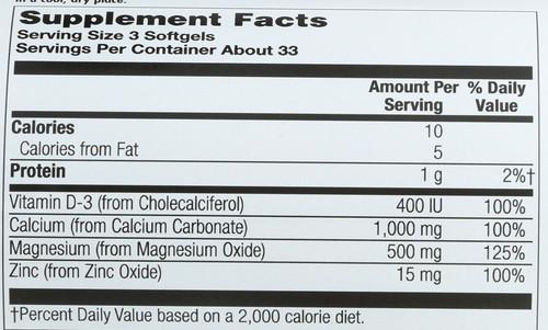 Calcium Plus 1000Mg 100 Sg  100 Count