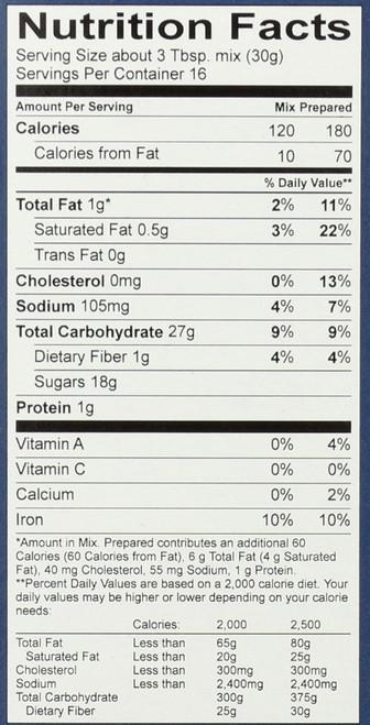 Brownie Mix Gluten Free 17 Ounce 482 Gram