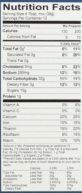 Muffin Mix Gluten Free 16 Ounce 1 Pound
