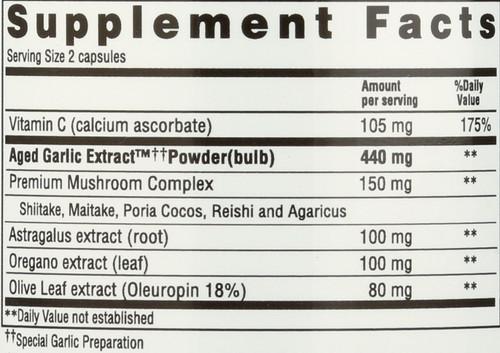 Kyolic Formula 103 Immune Vit C, Astragalus 100 Count