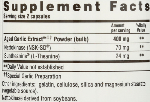 Kyolic®  Formula 109  Blood Pressure Health* Nattokinase, Suntheanine® 80 Count