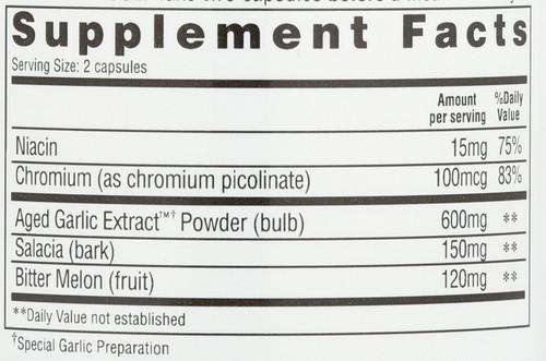 Kyolic Formula Blood Sugar Balance Salacia, Bitter Melon, Chromium Picolinate, Niacin 100 Count