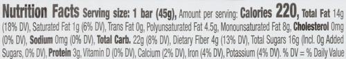 Fruit & Nut Bar Pecan Pie 1.6 Ounce 45 Gram