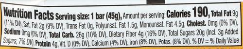 Banana Chocolate Chip Bar  1.6 Ounce 45 Gram