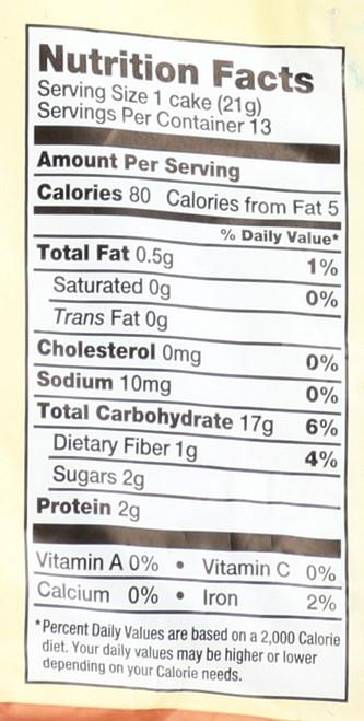 Rice Cakes Honey Nut 9.6 Ounce 273 Gram