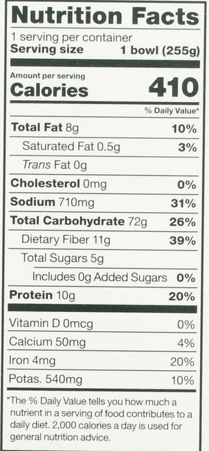 Og Frozen Bowls Beans And Greens 9 Ounce 255 Gram