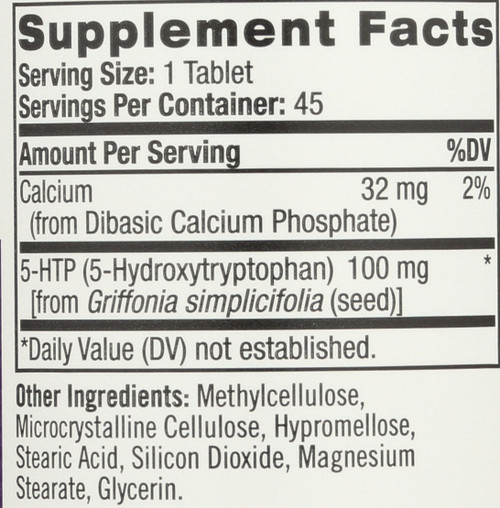 Vitamin/Supplements 5-Htp Tr 100 Mg  45 Count