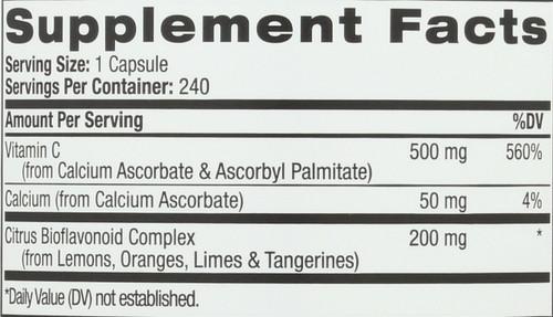 Ester C W Bioflavonoids 500Mg 240 Vc Value Size 240 Count