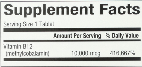 B12 Methylcobalamin 10Mg  30 Count