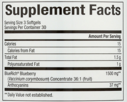 Bluerich® Blueberry 500 Mg  90 Count