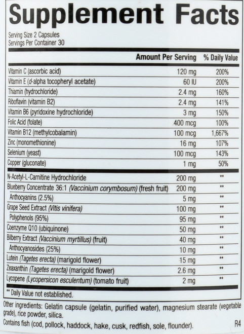 Advanced Eye Factors® W/ 7.5 Mg Lutein Adv Eye Factors W/ Lutein 15 Mg 60 Count