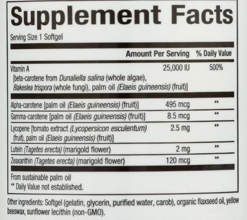 Betacareall® 25,000 IU Mixed Carotenoid Complex 90 Count