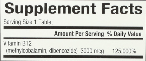 Biocoenzymated™ Methylcobalamin & Dibencozide B12 3000 Mcg 30 Count