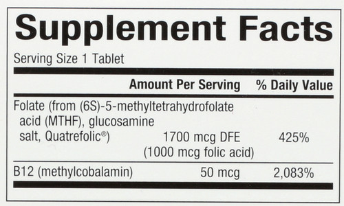 Biocoenz Methylfolate  60 Count