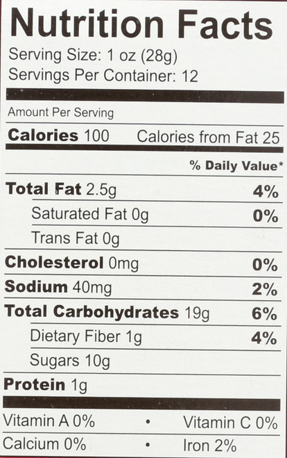 Fig Bar Gluten Free Pomegranate Fig Bar 6 Count 12 Ounce