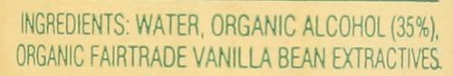 Vanilla Extract Organic Fair Trade Madagascar Bourbon 4 Fl Oz  118 Milliliter