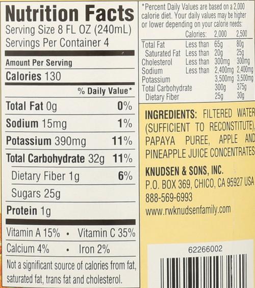 Juice Papaya Nectar 32 Fl Oz  1 Quart