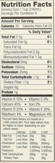 Almond Milk Unsweetened 0.5 Gallon 1.89 Liter