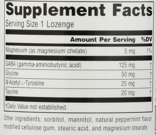 Gaba Calm Peppermnt Lozeng 60T Serene Science® Gaba Calm™ Peppermint 60 Count