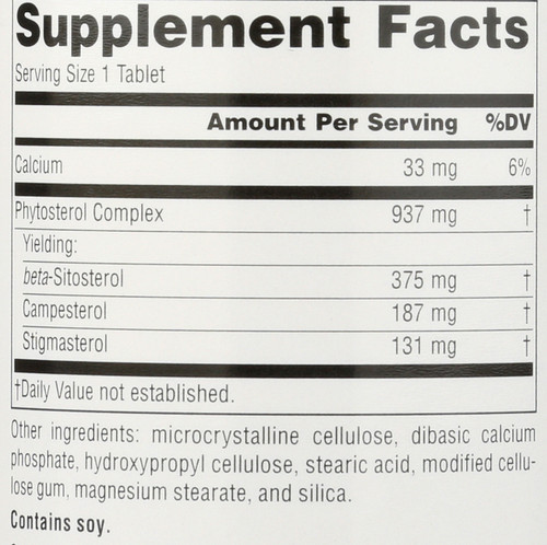 Beta Sitosterol Mega 375Mg 60 Beta Sitosterol 375 Mg, Mega Strength 60 Count