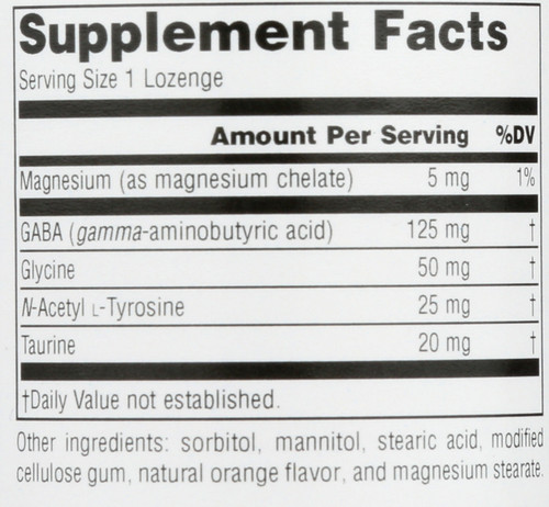Gaba Calm Orange Lozenge 60 Serene Science® Gaba Calm™ Orange 60 Count
