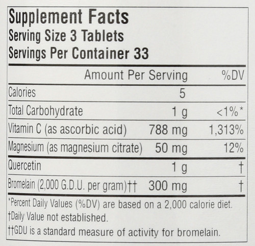 Activated Quercetin 100T Activated Quercetin™ 100 Count