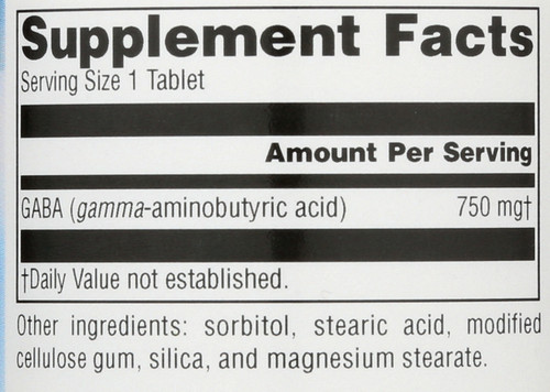 Gaba 750Mg Tabs 45T Serene Science® Gaba 750 Mg 45 Count