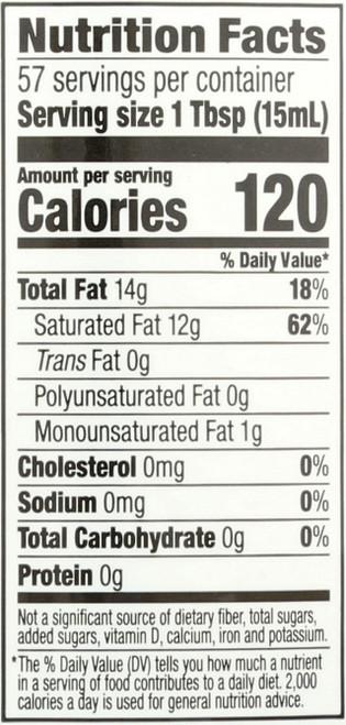 Coconut Oil Unrefined 29 Fluid Ounce 857 Milliliter