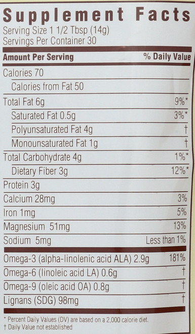 Flaxseed Whole  15 Ounce 425 Gram