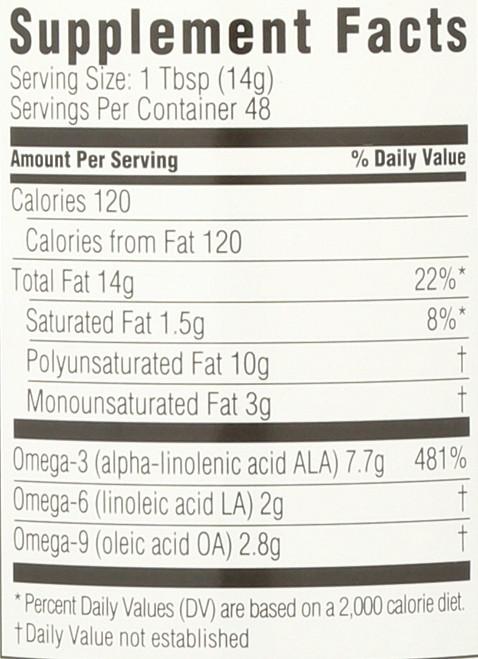 Organic Flax Oil Omega-3 24 Fl Oz  709 Milliliter