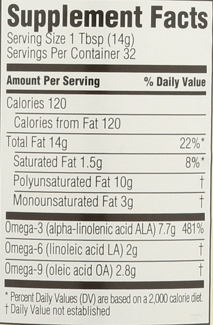 Flaxseed Oil With Omega 3 16 Fl Oz  473 Milliliter