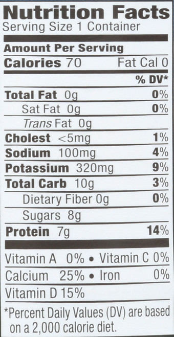Organic Yogurt Fat Free Plain 5.3 Ounce 150 Gram